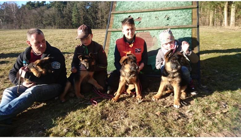 Warme Hütte für Groß und Klein des Schäferhundevereins Wolgast