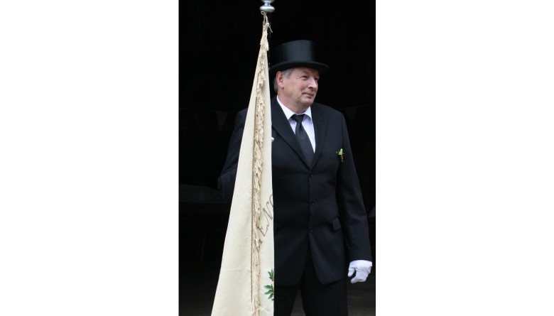 Die Fahne der Papagoyengilde Süderheistedt