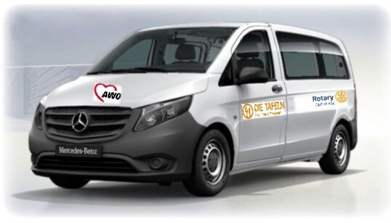 Kleinbus für AWO Heide -    Rotary verdoppelt Ihre Spende