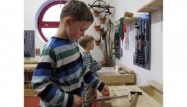 Bohrmaschine für unsere Holzwerkstatt